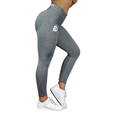Iron Dynasty Damen Leggins grau