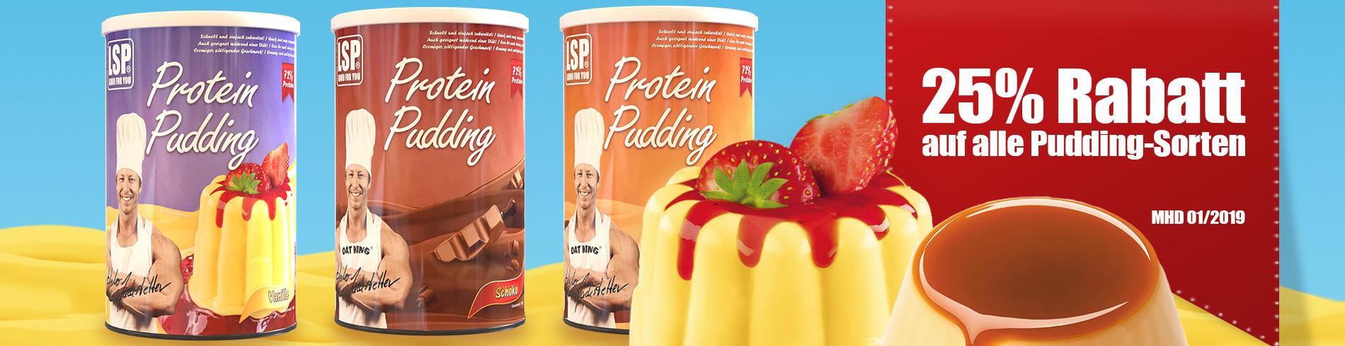25% Rabatt auf alle Pudding-Sorten