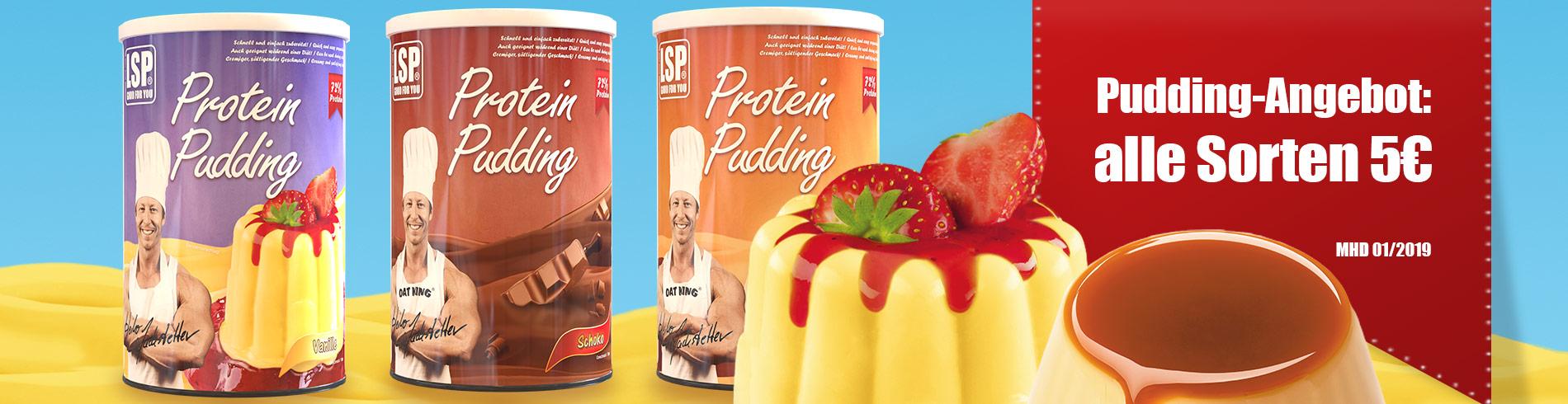 Pudding-Angebot: alle Sorten 5€