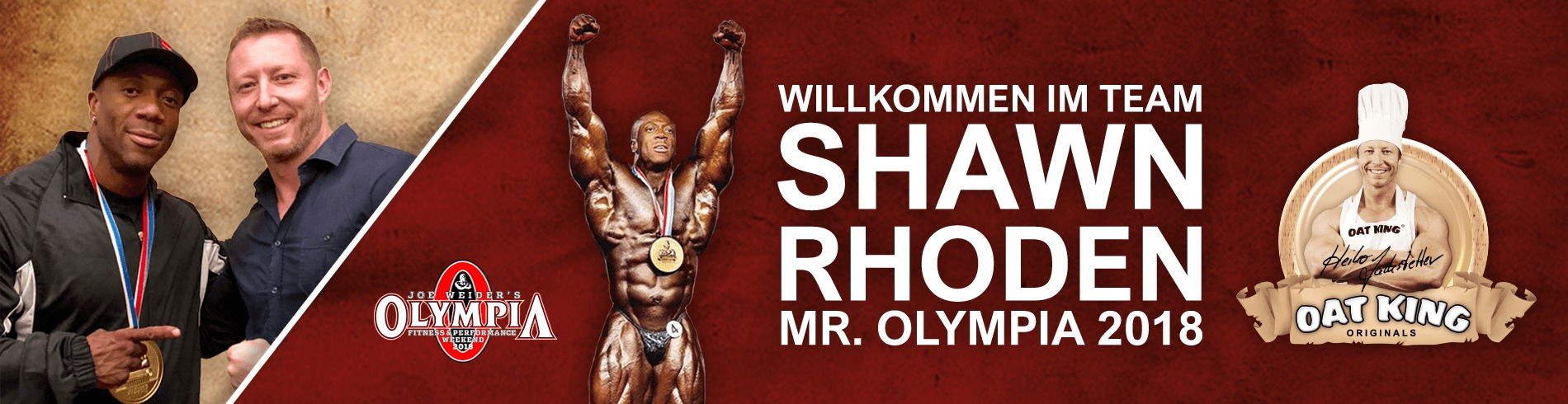 Willkommen im Team Shawn Rhoden Mr. Olympia 2018