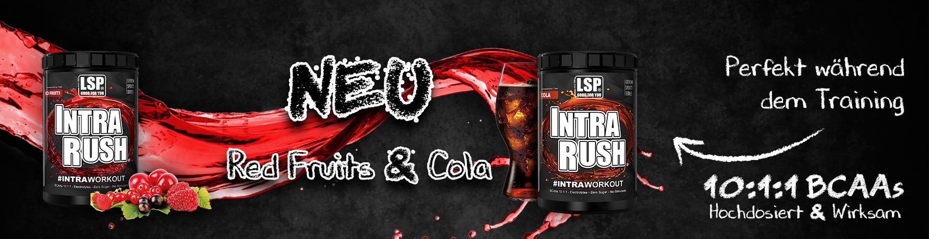 Intra Rush - Neue Geschmäcker: Rote Früchte & Cola